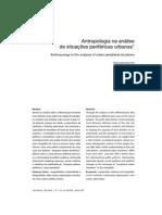 Antropologia Na Analise de Situacoes Perifericas Urbanas