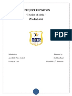 Media Law (Taxation on Media)