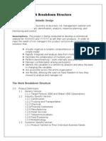 Web Design Work Breakdown Structure
