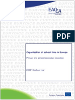 Organisation of School Time in Europe-Primary and General Secondary Education