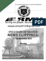 24 Nov 2014-news clippings