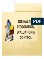 8. Job Hazard Recognition and Control