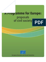 A Programme for Europe-proposals of Civil Society
