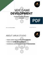 Seminar CAGI 2014 - Indie Game Development