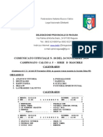 Calcio 5 - Serie D - C.U. 18 Del 24 Nov 2014 - Calendario