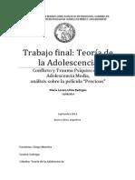 Trabajo Teoría de La Adolescencia
