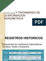 Analisis y Tratamiendo de La Informacion Hidrometrica