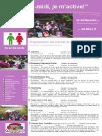 Dépliant Publicitaire Activités Mercredis PM Bloc 2 2e Et 3e Cycle 2014 2015