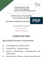 5.2 Analisis de Las Actividades de La Cadena de Valor