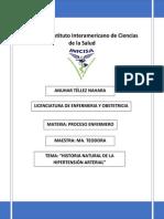 Historia Natural de Hipertensión Arterial