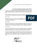 Carta de Acreditación de Investigacion y Proyecto Acción 2014