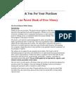Secret Book of Free Money
