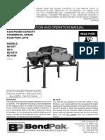 Bendpak HD-9 Manual