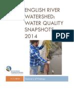 english river watershed snapshot report