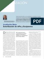 Article Irradiacioacuten Beta Esterilizacioacuten de Apis y Excipientes Www.farmaindustrial.com