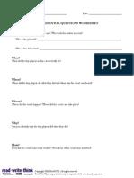 simulation lesson worksheet