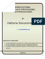 Agricultural produce processing