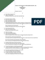 Senarai Peribahasa Untuk Soalan Spm Sebenar 2005