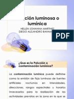 Polución Luminosa o Lumínica