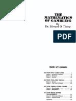 The Mathematics of Gambling (Edward O. Thorpe)