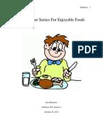 sensory lab report - thank your senses for enjoyable foods