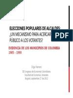 Olga Namen Elecciones Populares de Alcaldes