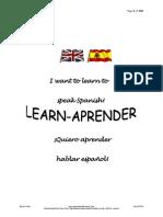 Learn Aprender Spanish Course PDF for Internet