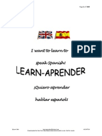 Learn Aprender Spanish Course PDF for Internet