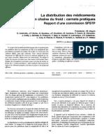 Pharmaceutique Distribution des Medicaments en Chaine Du froid Sfstp-froid