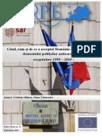 Când Cum Si de Ce a Acceptat Romania Conditiile UE in Domeniul Politicilor Anticoruptie. Recapitulare 1999 – 2010