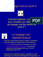 Langage Oral Powerpoint