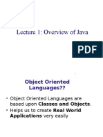 Advanced Java Lecture-1