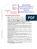 Regimen Hipocalorico Basado Dieta Mediterranea