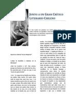 Junto a Un Gran Crítico Literario Chileno