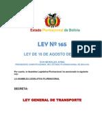 Ley de Transporte 165