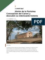 Historia de La Iglesia Purísima Concepción del Caroní