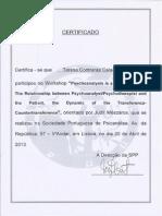 Formação - Psychoanalysis is a Two-way Street
