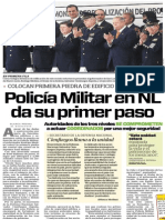 11-11-2014 Policía Militar en NL da su primer paso