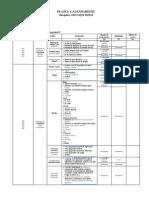 Planul Calendaristic Semestrial