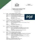 November 21, 2014 - Public Hearing Calendar