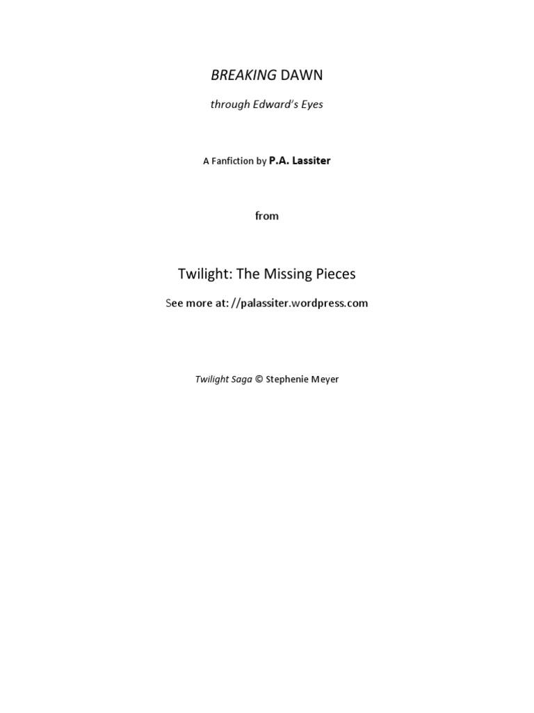 Breaking Dawn Edward by Pa Lassiter | Twilight (Novel Series)
