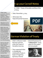 WEBNotes - Day 1 - Treaty of v - Nazis - EventsLeadingToWar