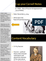WEBNotes - Day 2 - 2014 - Rise of Fascism and Appeasement