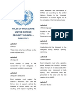 UNSC - Rules of Procedure