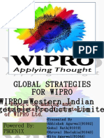Global Strategies for Wipro Wipro = Western and Indian A