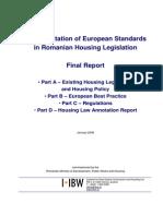 2008 IIBW. Romanian Housing Law. Report En