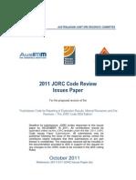 JORC Issues Paper