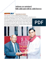 Indraratna Chinthana on Sustained Development Still Valid and Will Be Valid Forever