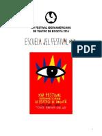 Primer Programa Escuela Del Festival
