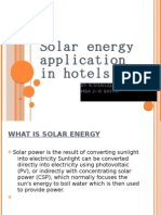 Solar Energy Application in Hotels